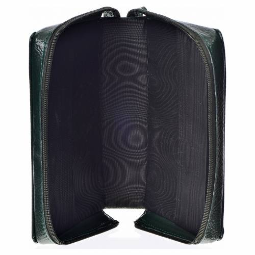 Divine office cover, green bonded leather Christ Pantocrator s3