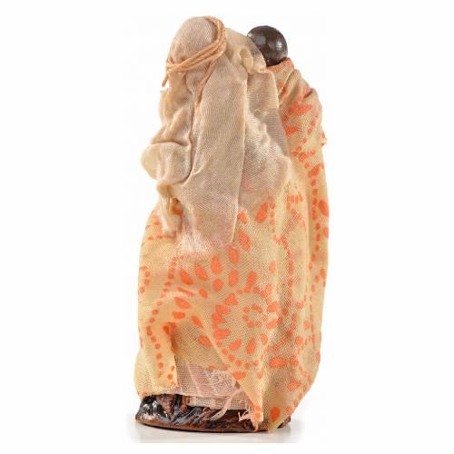 Donna bambino in braccio 6 cm presepe Napoli stile arabo s2