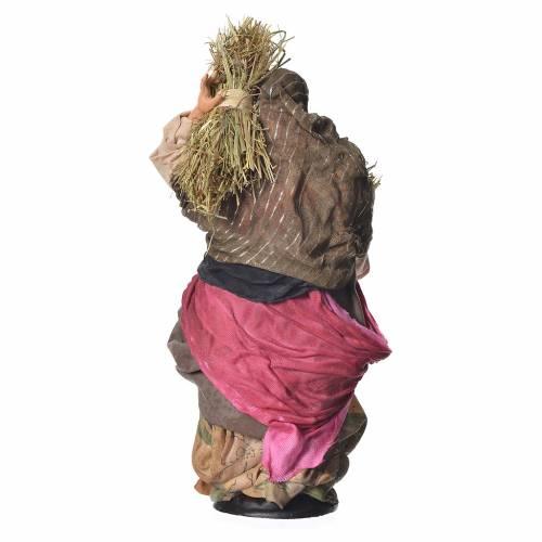 Donna con paglia 30 cm presepe napoletano s4
