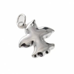 Pendants, crosses and pins: Dove charm in silver 925, 1.5 cm