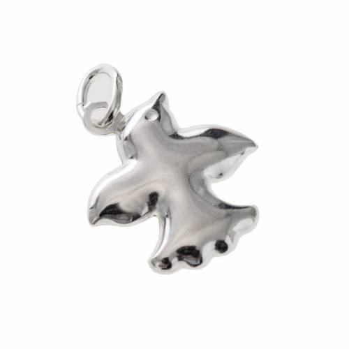 Dove charm in silver 925, 1.5 cm s1