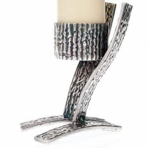 Duo de chandeliers autel, base argentée s4