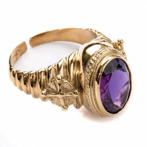 Bishop's items: Ecclesiastical Ring made of silver 800 with Amethyst