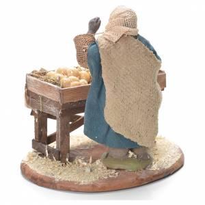 Egg seller with stall, Neapolitan Nativity 10cm s3
