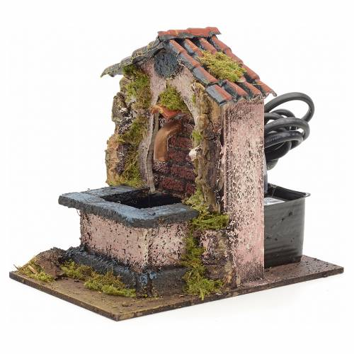 Electric fountain for nativities 14x10x14cm s2