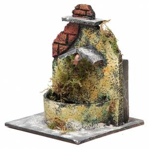 Electric fountain made with wood and cork for Neapolitan Nativity 16x14.5x14cm s2