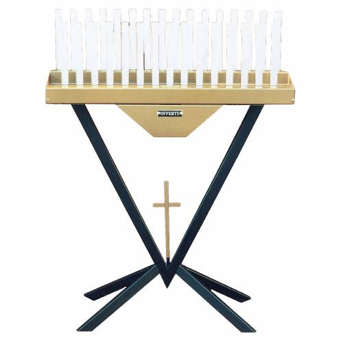 Electric votive 31 candles, 12V lamps and cross s1