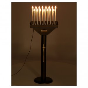 Electric votive offering with 15 candles, 12V lights and buttons s3