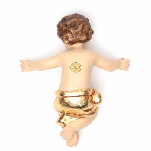 Enfant Jésus 20 cm fibre de verre robe or s2