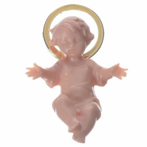 Enfant Jésus 5cm plastique auréole dorée s1