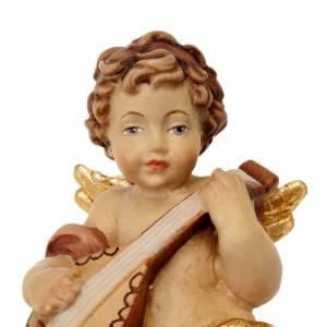 Christbaumschmuck aus Holz und PVC: Engel mit Gitarre