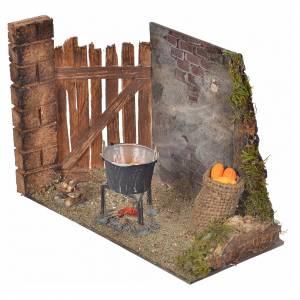 Escena mazorcas cocinándose en olla 10,5x15x8 pesebre nap s2