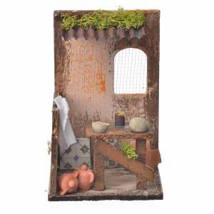 Casas, ambientaciones y tiendas: Escenografía Belén Alfarero cm. 15 x 9.5 x 9.5