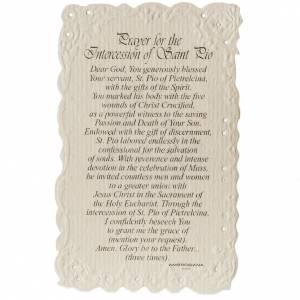 Estampa Saint Pio con oración (inglés) s2
