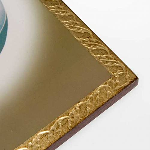 Estampa sobre madera con marco de Juan Pablo II s2
