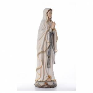 Estatua Nuestra Señora de Lourdes con madera pintada Val s4