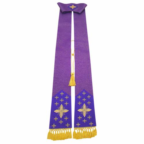 Estola 95% pura lana virgen 5 % lurex estrellas s1