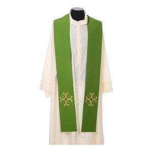 Estolas: Estola sacerdotal cruz con perlas de vidrio