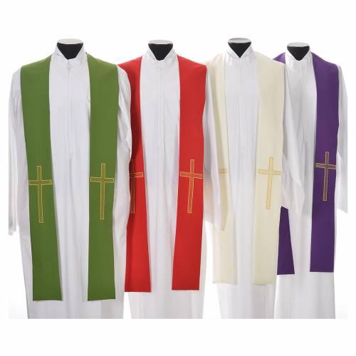 Etole liturgique 100% polyester croix s1