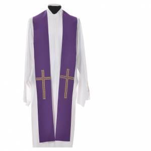 Etole liturgique 100% polyester croix s3