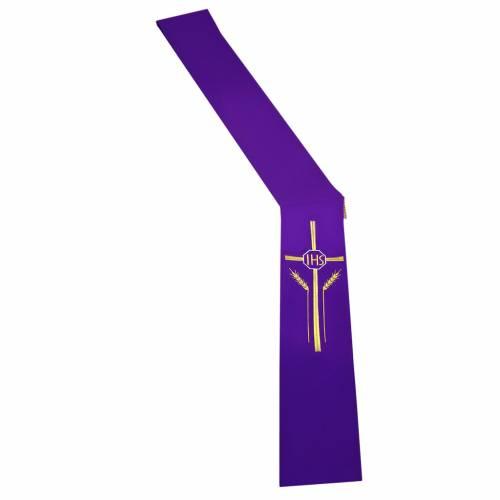 Etole pour diacre épis croix IHS 100% polyester s1