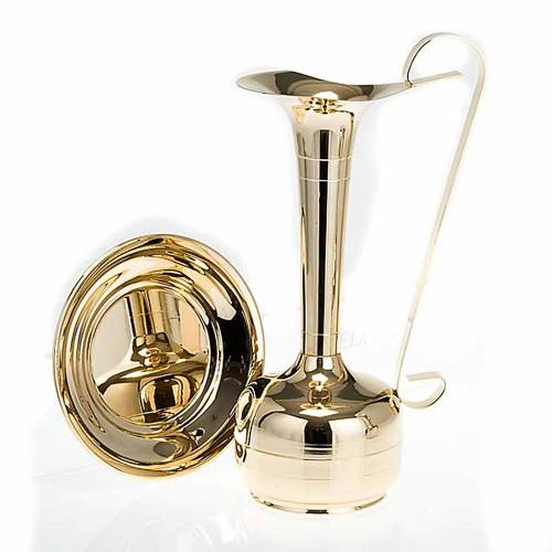 Ewer and basin, gold-plated brass or palladium s5