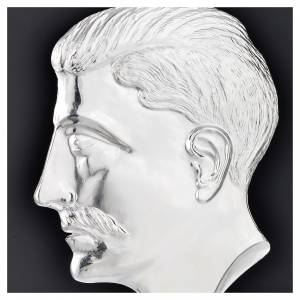 Ex-voto, male head in sterling silver or metal 15cm s2