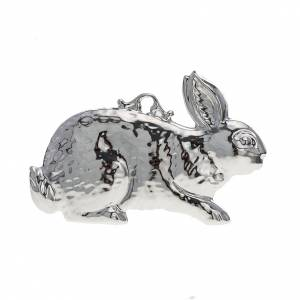 Ex-voto, rabbit in sterling silver or metal, 10 x 6cm s1