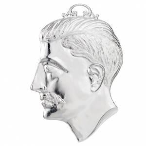 Ex voto tete d'homme argent 925 ou métal 15 cm s1