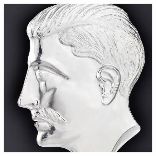 Ex voto tete d'homme argent 925 ou métal 15 cm s2