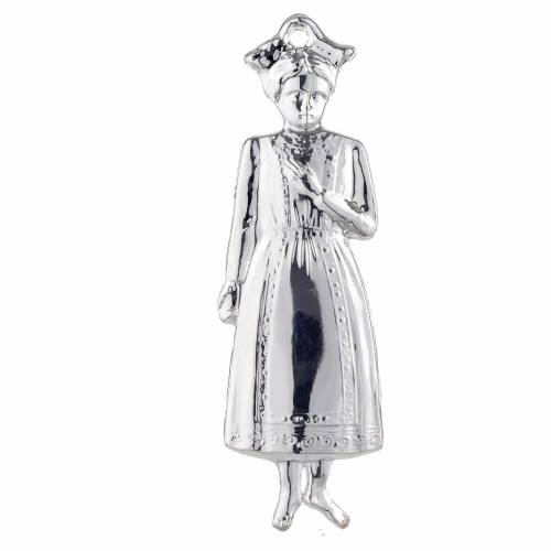 Ex-voto, young girl in sterling silver or metal, 15cm s1