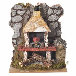 Fireplaces and ovens: Fake oven for nativities measuring 17x15x10cm