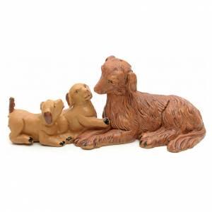 Animales para el pesebre: Familia de perritos cm 12 Fontanini