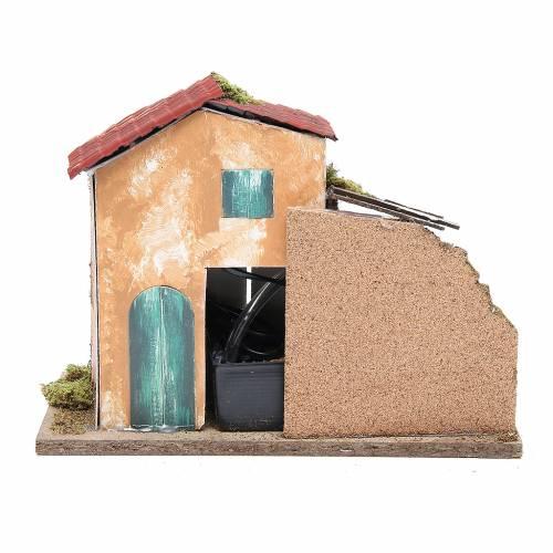 Farmhouse for nativities measuring 24.5x33x18cm s4