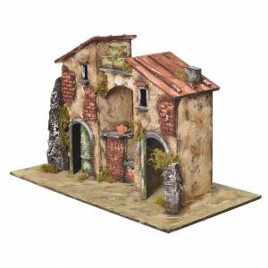 Farmhouse with fountain and pump for nativities 32x50x26cm s3