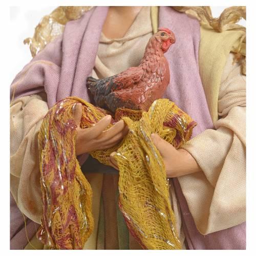 Femme à la poule crèche Napolitaine 18 cm s4