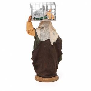 Femme avec cage et panier 10 cm crèche Naples s3