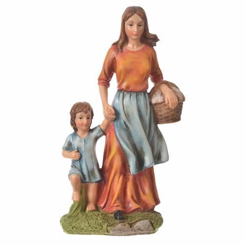 Femme avec enfant 30 cm santon résine s4