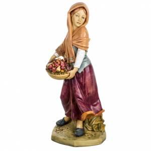 Femme avec fruits crèche Fontanini 65 cm résine s1