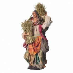 Femme avec paille 30 cm crèche napolitaine s2