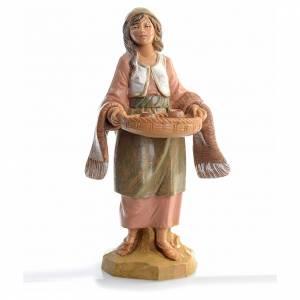 Santons crèche: Femme avec tasses crèche 12 cm Fontanini