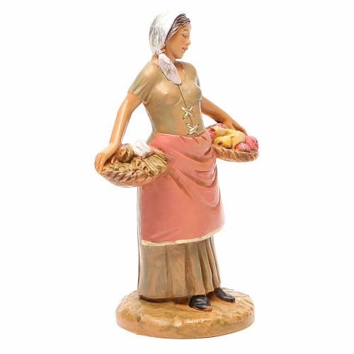 Femme panier fruits 12 cm crèche Fontanini s4