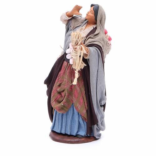 Femme sac pommes et branches en main 14 cm crèche Naples s2
