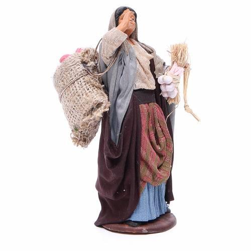 Femme sac pommes et branches en main 14 cm crèche Naples s3