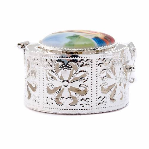Filigree porcelain round box s7