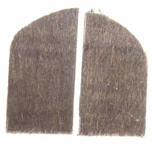 Finestra in legno cm 5,5x3 ad arco set 2 pz s2