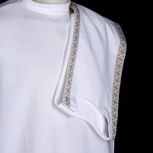 First communion alb for girl scapular thin golden edges s5