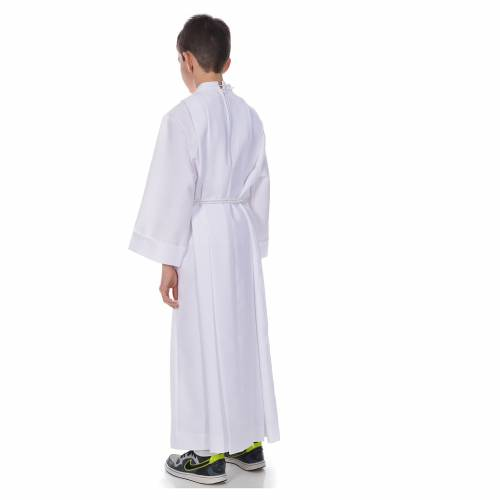 First communion alb with 4 pleats s3