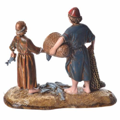 Fishermen, Arabian style nativity figurines, 10cm Moranduzzo s2