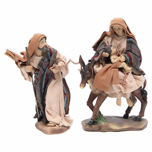Flee from Egypt 24cm, 2 figurines with Brown Beige finish s1